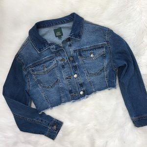 Wild Fable Cropped Oversized Denim Jean Jacket
